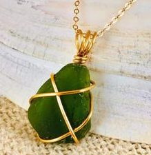 genuine sea glass jewelry